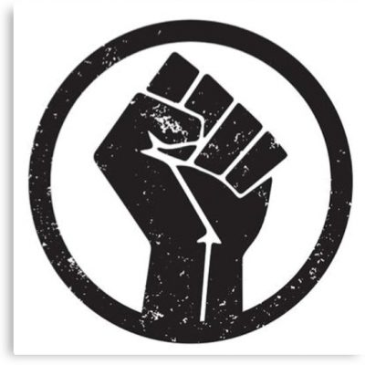 TikTok BlackLivesMatter logo sign
