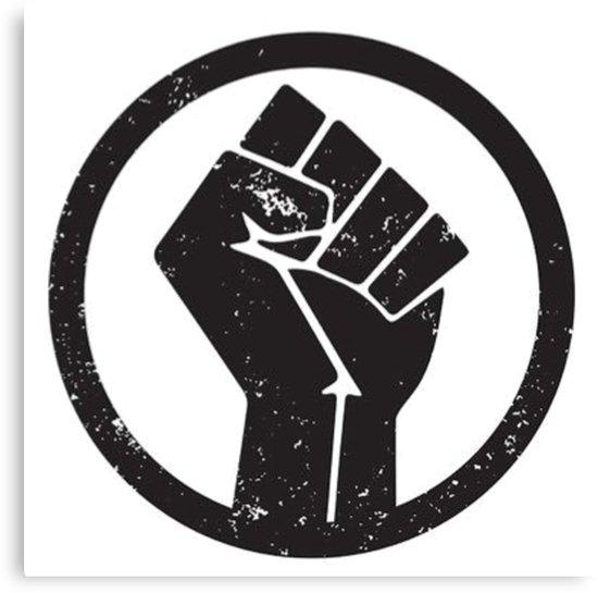 TikTok BlackLivesMatter logo sign