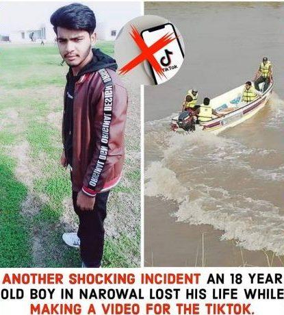 TikTok death Narowal boy drown in canal