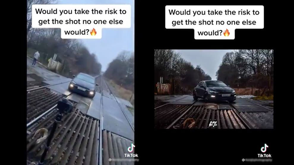 Car Parked on Railway Tracks TikTok Video Being Investigate