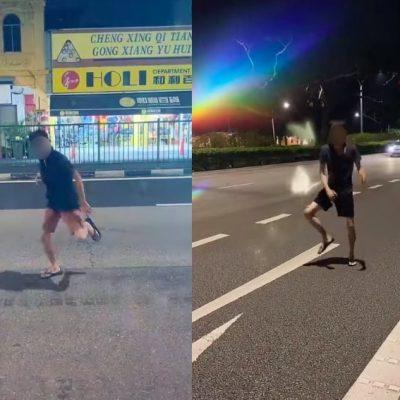 Man Prancing on Road For TikTok Has Singaporeans Hopping Mad