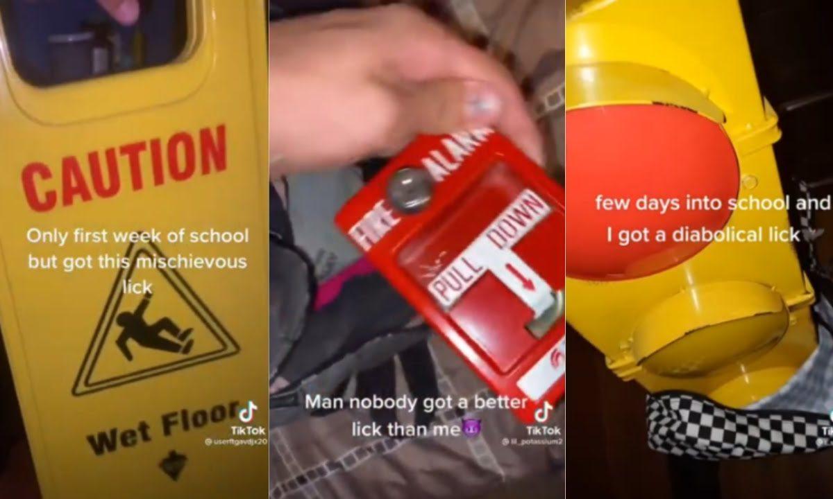 TikTok's Devious Licks Challenge Encourage Students To Steal School Items TikTok Death